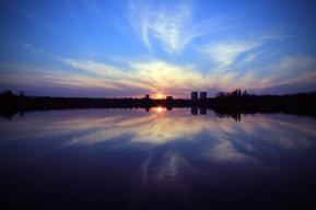 city-dawn-sky-sunset