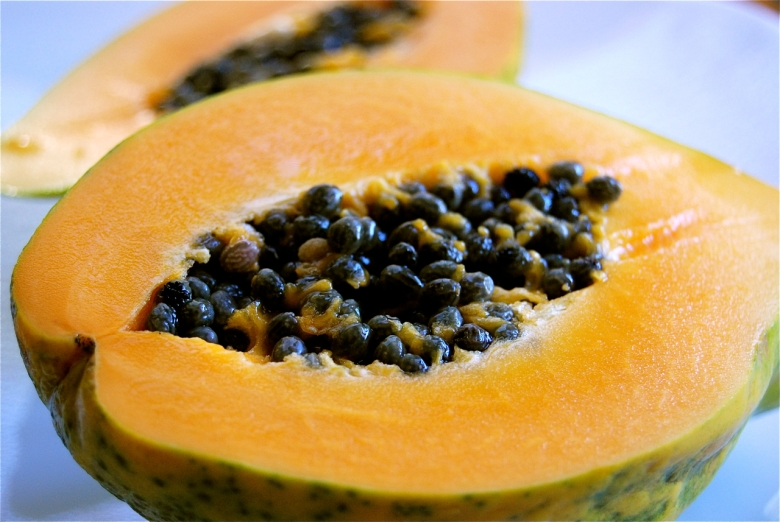 Brazillian breakfast: Papaya