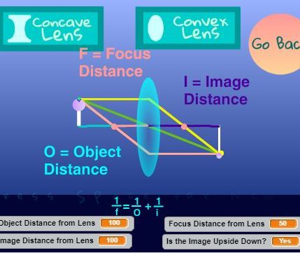Moosmosis Educational Simulation: Physics Concave and Convex Lens