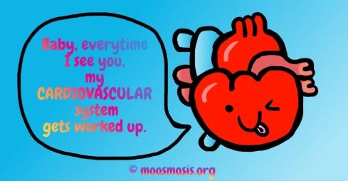 Heart Anatomy Joke Pun Comic - Circulatory System - Copyright Moosmosis.org