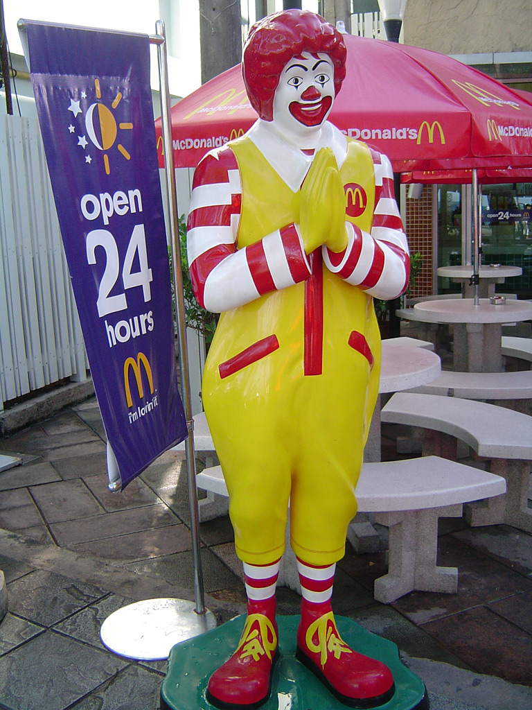 In a survey with young children, Ronald McDonald is recognized more than George Washington, America's first president in Super Size Me movie.