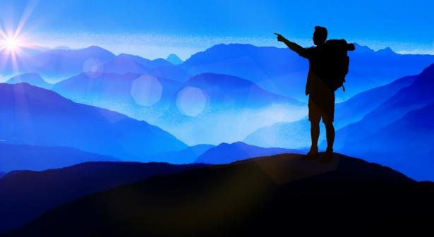 man-on-mountain